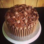 Mega chocolate birthday cake