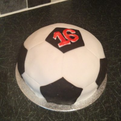 Chocolate football cake