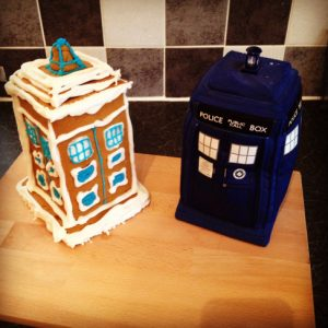 christmas gingerbread TARDIS