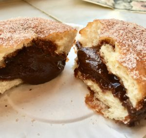 Places to eat in NYC dough nutella doughnut