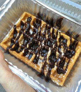 Places to eat in NYC uptown swirl waffle