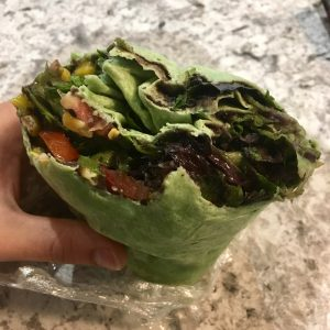 Vegan Yosemite Guide Hummus wrap
