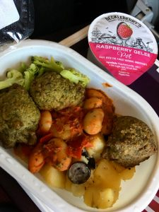 Vegan Virgin Atlantic food