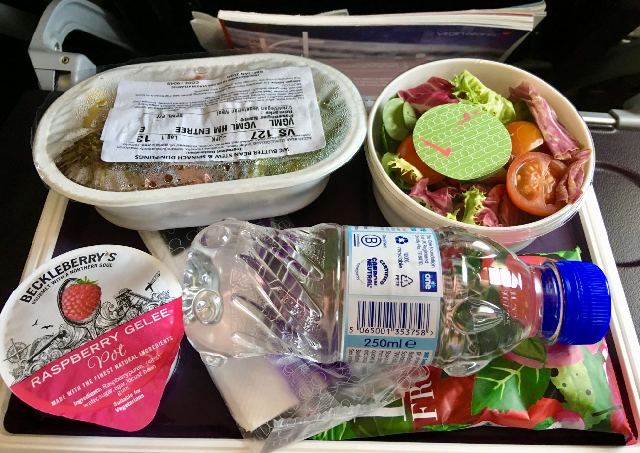 Vegan Virgin Atlantic food Lunch