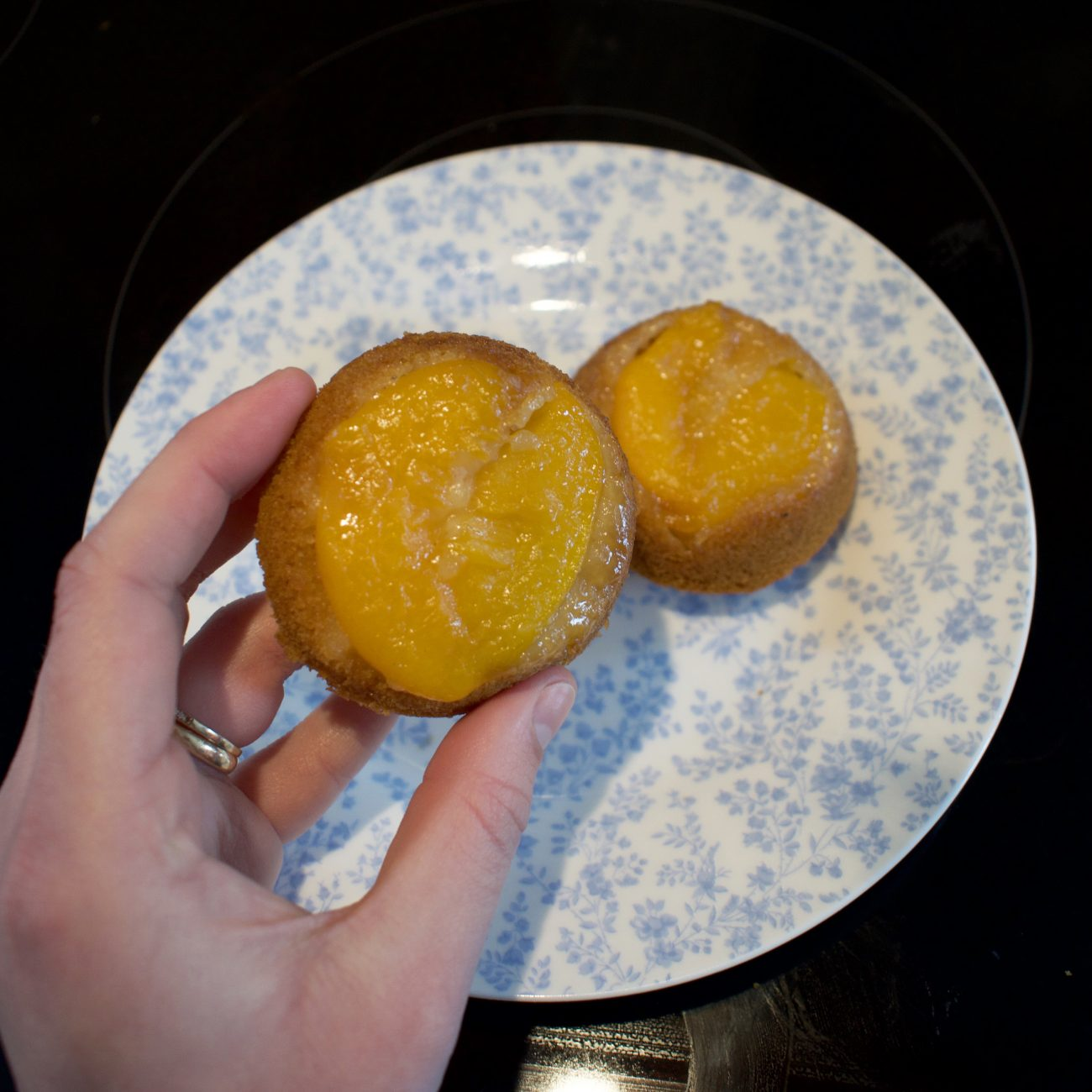Mini Peach Upside Down Cakes – Vegan and Gluten Free